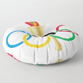 Olympic Rings Floor Pillow