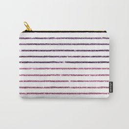 Modern geometrical purple pink glitter Carry-All Pouch