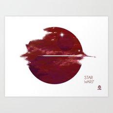 Star Wars Minimalist Cloudy Poster Art Print