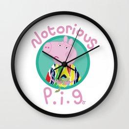 NOTORIOUS P.I.G. Wall Clock