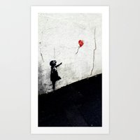 banksy Art Prints featuring Banksy by Bitcoin