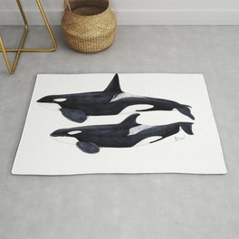 Orca male and female Rug
