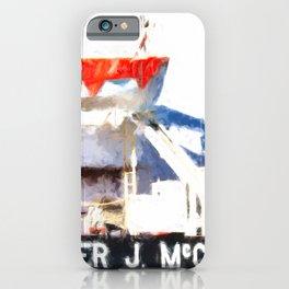 Walter J McCarthy JR Lifeboat iPhone Case