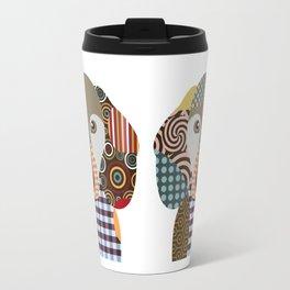 Dachshund Dog Pop Art Cubism Travel Mug