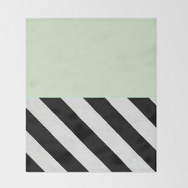PARALLEL_LINES_GREEN_MINT Throw Blanket