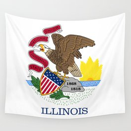 Illinois State Flag, authentic color & scale Wall Tapestry