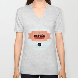 You can't design better with a computer Unisex V-Neck