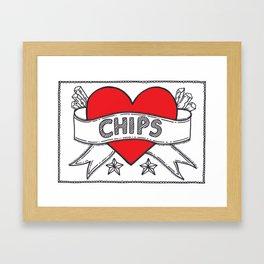 I Heart Chips Framed Art Print
