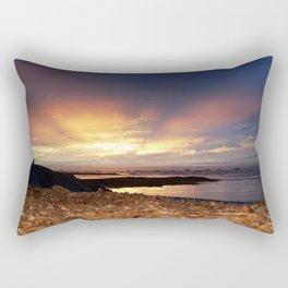 Seaweed Beach Sunset Rectangular Pillow