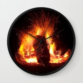 """Fire Photo 3"" Wall Clock"