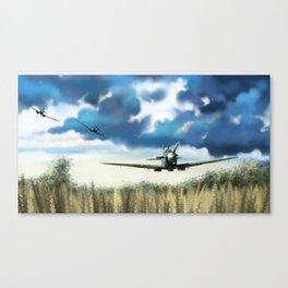 Triple Spitfires Canvas Print