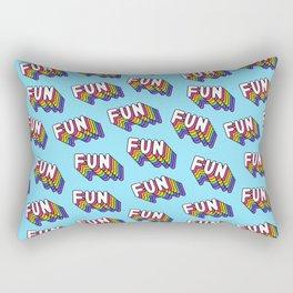 FUN pattern. Blue. Rectangular Pillow