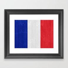 France flag Framed Art Print