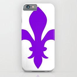Fleur de Lis (Violet & White) iPhone Case