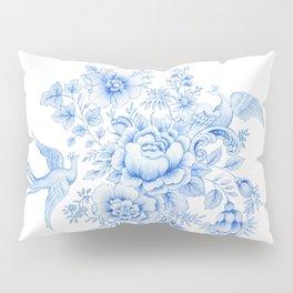 Blue asiatic pheasant Pillow Sham