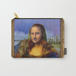 Mona (Kevin) Lisa : Satire + Contemporary Fine Art Carry-All Pouch