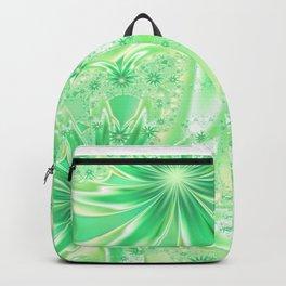 Pastel Green Wildflowers Backpack