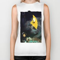 bill cipher Biker Tanks featuring Gravity Falls- Dipper Pines And Bill Cipher by merrigel