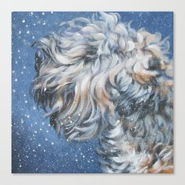Soft-coated Wheaten Terrier from an original painting by L.A.Shepard Canvas Print