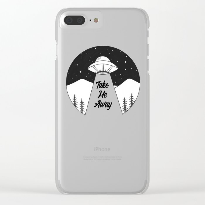 'Take Me Away' UFO Clear iPhone Case