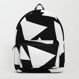 Triangles Black and White Backpack