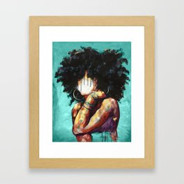Naturally II TEAL Framed Art Print