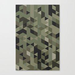 Isometric Camo Canvas Print