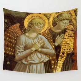 1459 Benozzo Gozoli - Angels (detail) Wall Tapestry