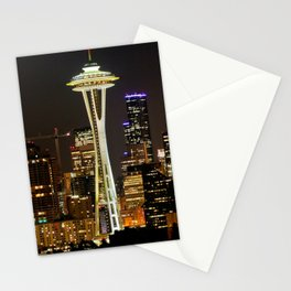 Seattle Space Needle & Cityscape Stationery Cards