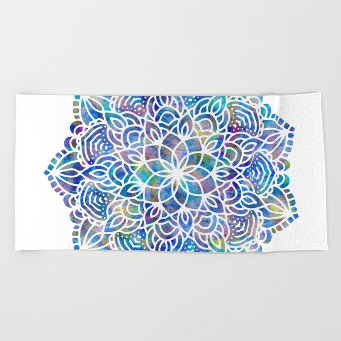 Mandala Little Mermaid Ocean Blue Beach Towel