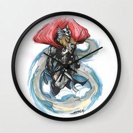 Thundery Goddie  Wall Clock