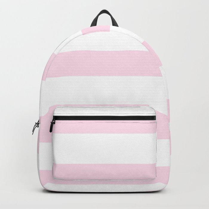 Pink Stripes on white- Beautiful luxury pattern Backpack