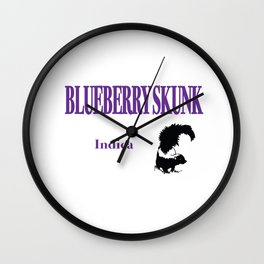 Blueberry Skunk Indica Wall Clock