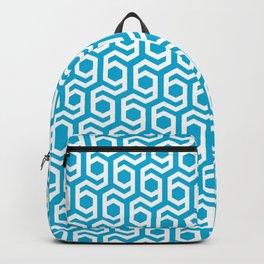 Modern Hive Geometric Repeat Pattern Backpack