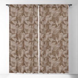 Abstract Geometrical Triangle Patterns 2 Benjamin Moore 2019 Trending Color Kona Chocolate Brown AF- Blackout Curtain