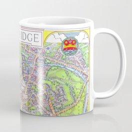 CAMBRIDGE University map ENGLAND Coffee Mug
