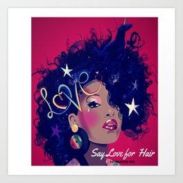 Say Unicorn Girl Art Print