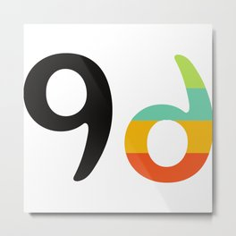 000 - A brand 9day Metal Print