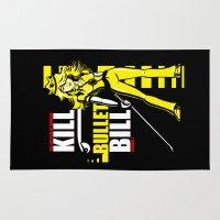 kill bill Area & Throw Rugs featuring Kill Bullet Bill (Black/Yellow Variant) by Shana-Lee