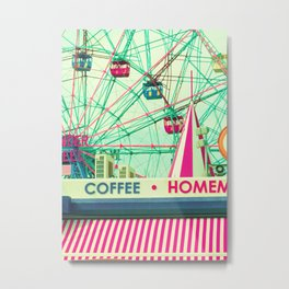 Wheel and Coffee Metal Print
