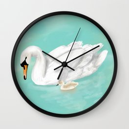 Mother Swan Wall Clock