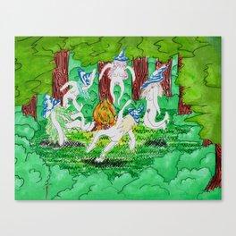 Witches sabbath Canvas Print