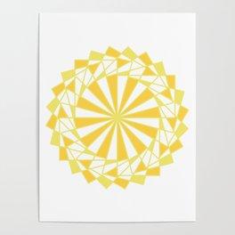 Orange Rays Poster