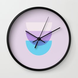 Lavender and Lilac Wall Clock
