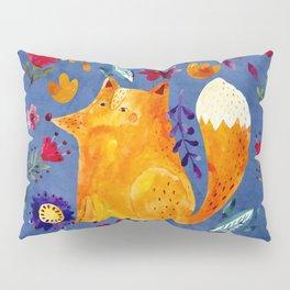The Smart Fox in Flower Garden Pillow Sham