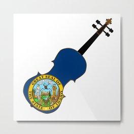 Idaho State Fiddle Metal Print