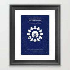 No532 My Interstellar minimal movie poster Framed Art Print