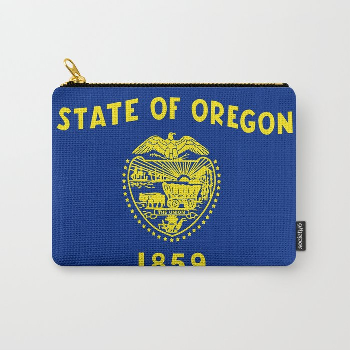 flag of oregon,america,usa,west,pacific, Beaver State,Oregonian,Portland,Salem,Eugene Carry-All Pouch