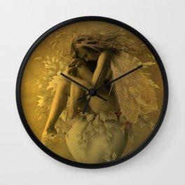 Flower Pot Fairy Wall Clock