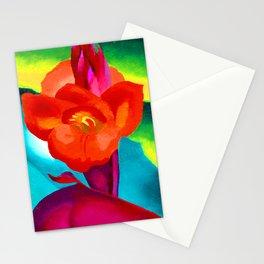 Georgia O Keeffe Red Canna Stationery Cards